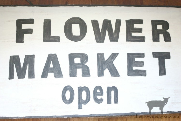 How-to-Make-a-Flower-Market-Sign-from-Scrap-Wood-12-2 DIY Flower Market Sign Decorating DIY Spring Summer