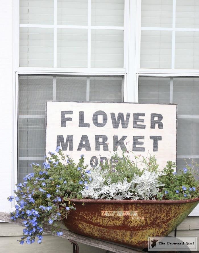 How-to-Make-a-Flower-Market-Sign-from-Scrap-Wood-16 DIY Flower Market Sign Decorating DIY Holidays Spring