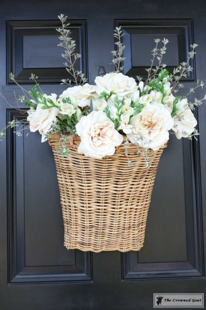 How to Make a Spring Flower Basket-5