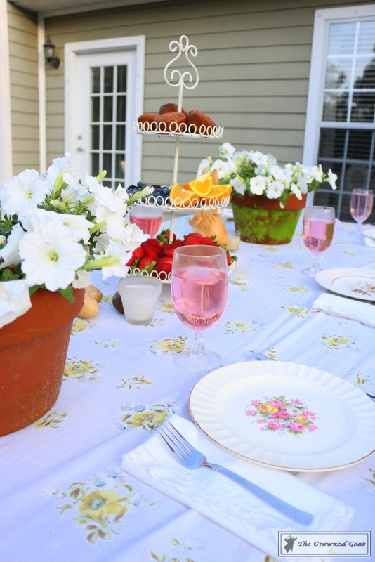 Outdoor Spring Tablescape-The Crowned Goat-3