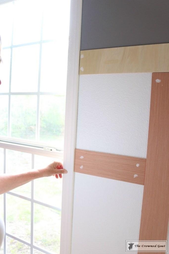Budget-Friendly-Window-Trim-4-683x1024 A $30 Window Upgrade DIY One_Room_Challenge