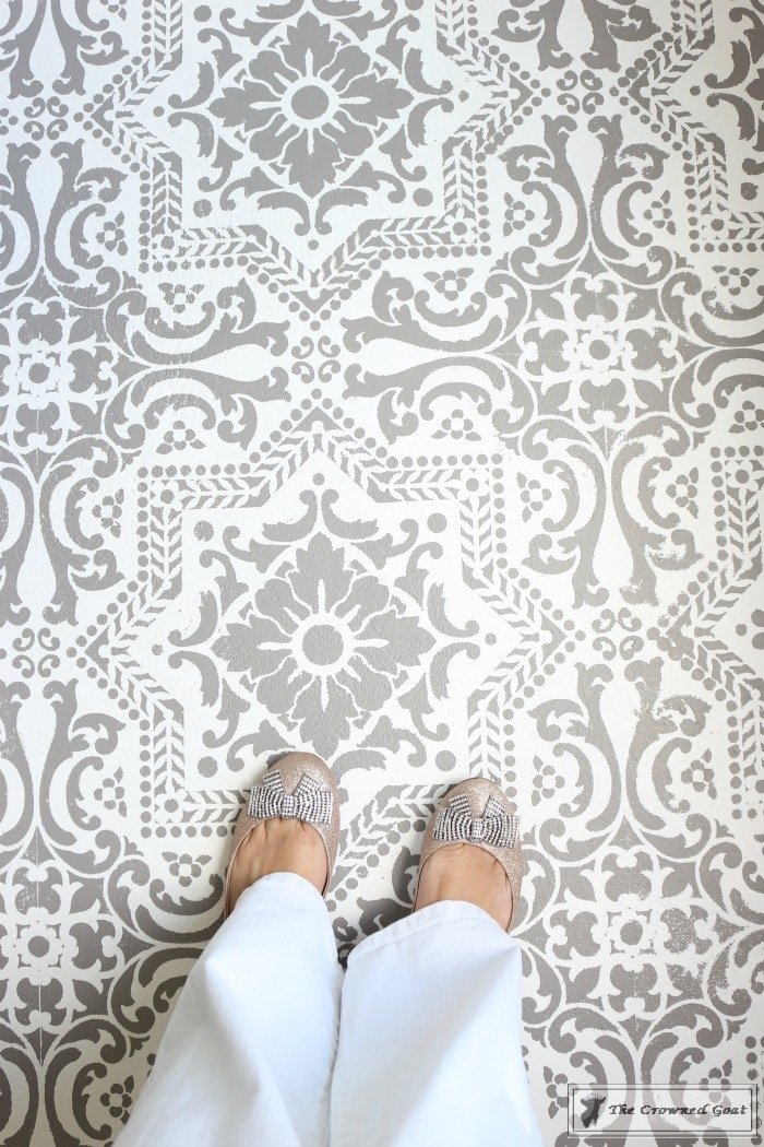 How To Stencil A Concrete Floor Like A Pro The Crowned Goat