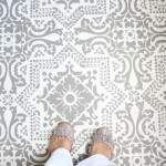 Easily Stencil a Concrete Floor-18