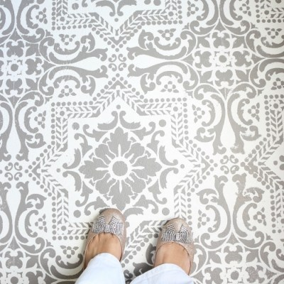 How to Stencil a Concrete Floor Like a Pro