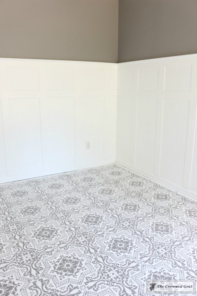 Easily-Stencil-a-Concrete-Floor-19-683x1024 How to Stencil a Concrete Floor Like a Pro DIY One_Room_Challenge Painted Furniture