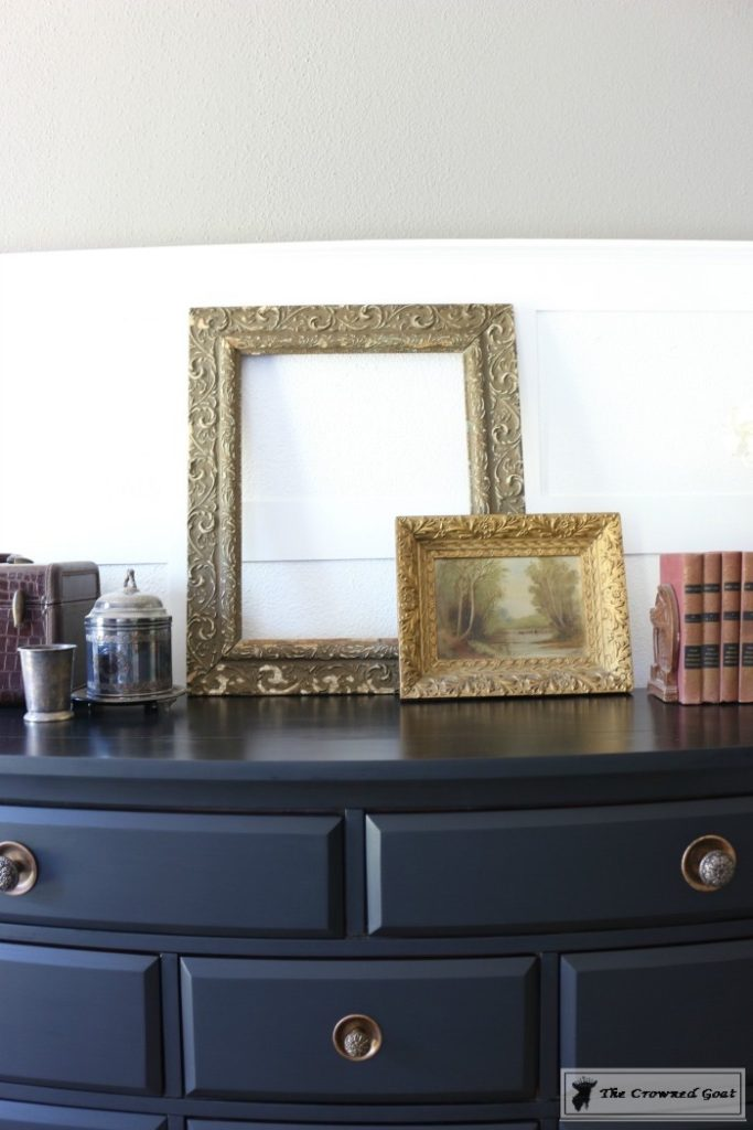 Lamp-Black-Painted-Dresser-11-683x1024 Painted Dresser in General Finishes Lamp Black DIY One_Room_Challenge Painted Furniture