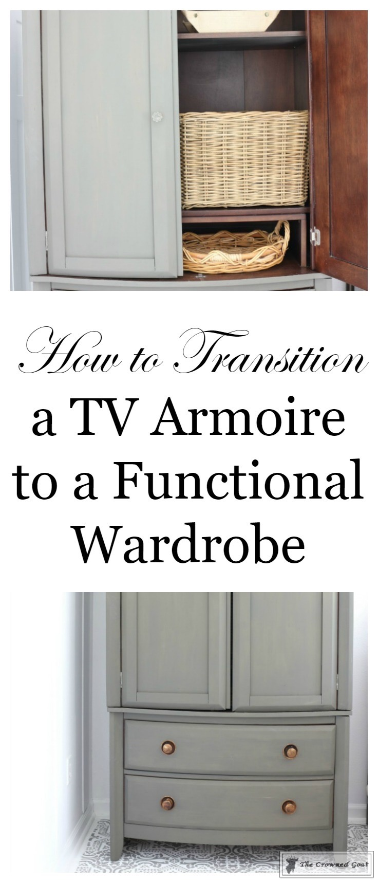 TV Armoire Makeover 1