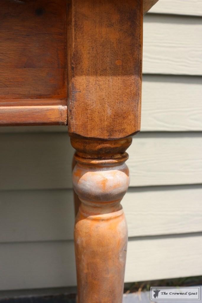 Using Dark Furniture Wax to Cover Orange Pine-10