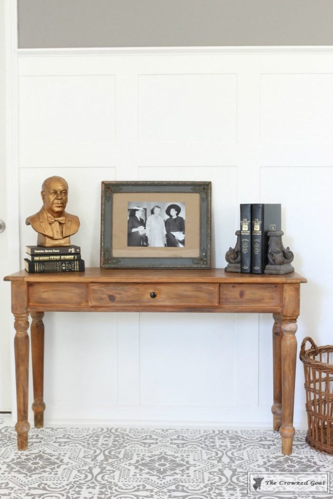 Using-Dark-Furniture-Wax-to-Cover-Orange-Pine-14-683x1024 Before & After Console Table: Using Dark Wax as a Stain DIY One_Room_Challenge Painted Furniture