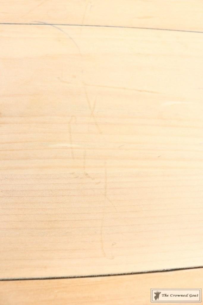 Using Dark Furniture Wax to Cover Orange Pine-2