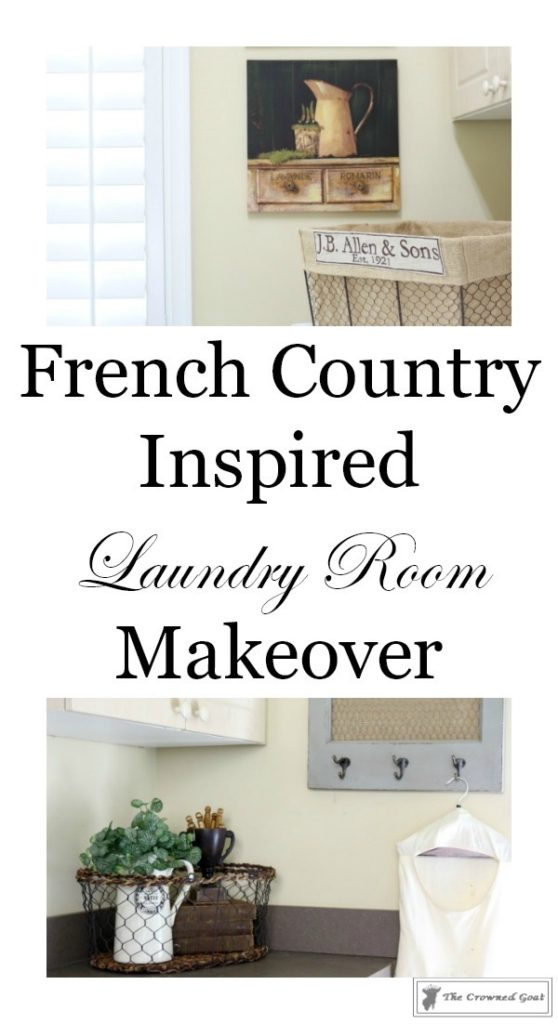 French-Country-Laundry-Room-Makeover-1-558x1024 French Country Laundry Room Makeover Decorating DIY Painted Furniture