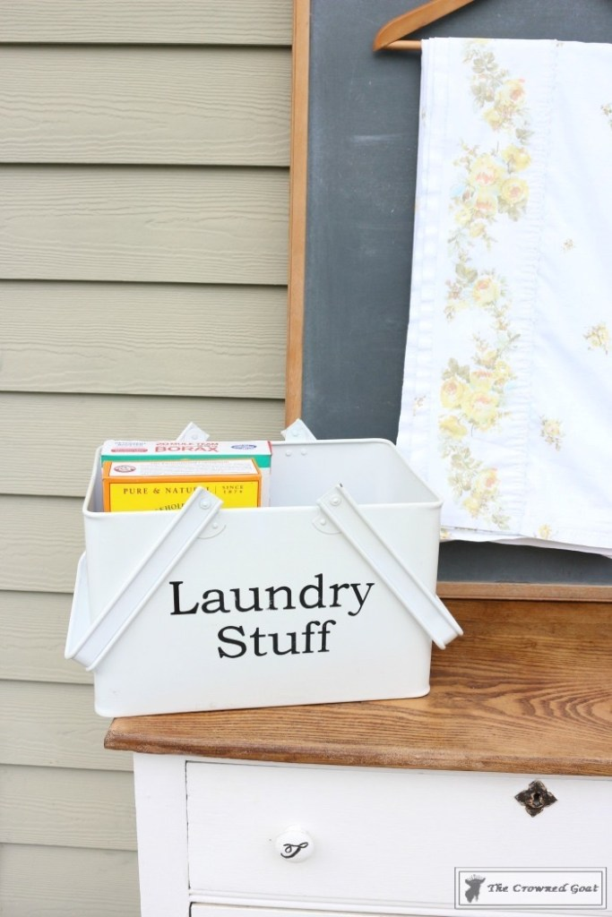 How to Create a Laundry Room Folding Station from a Dresser-The Crowned Goat-11