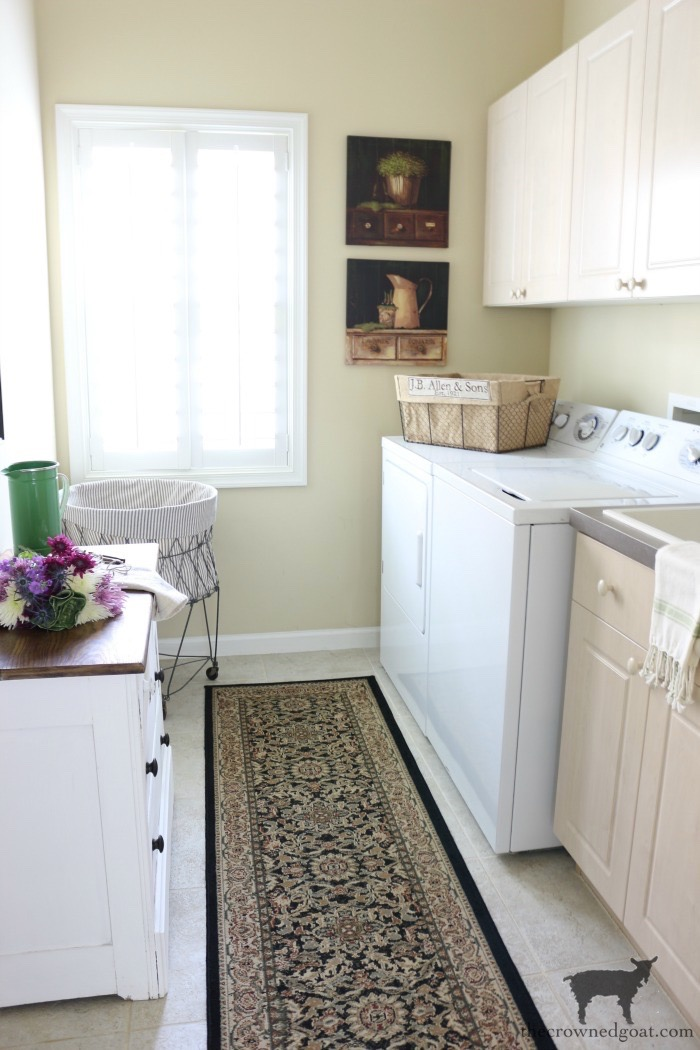 French-Country-Laundry-Room-Makeover-24 French Country Laundry Room Makeover Decorating DIY Painted Furniture