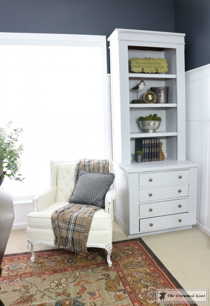 Home-Office-Makeover-Reveal-The-Crowned-Goat-9 Home Office Makeover Decorating DIY Painted Furniture