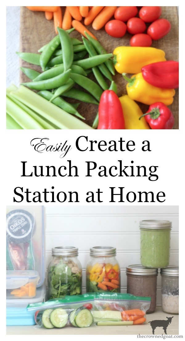 How-to-Make-a-Lunch-Station-at-Home-The-Crowned-Goat-1 How to Organize an Easy Lunch Station at Home Back to Basic DIY Organization