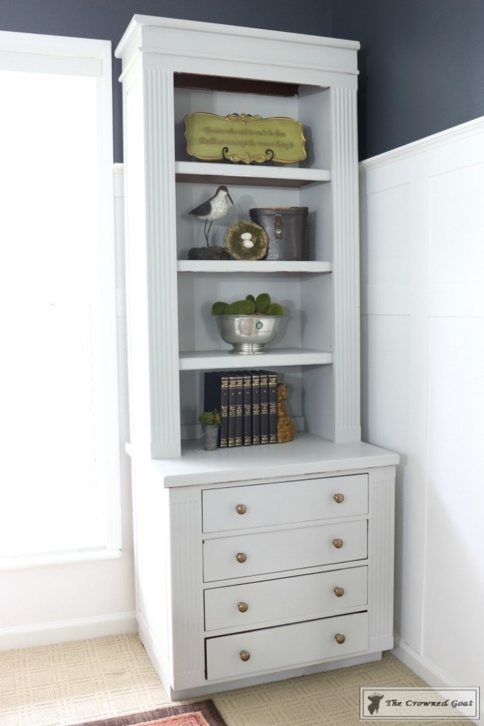 Painted Bookcases in GF Seagull Gray-The Crowned Goat-10
