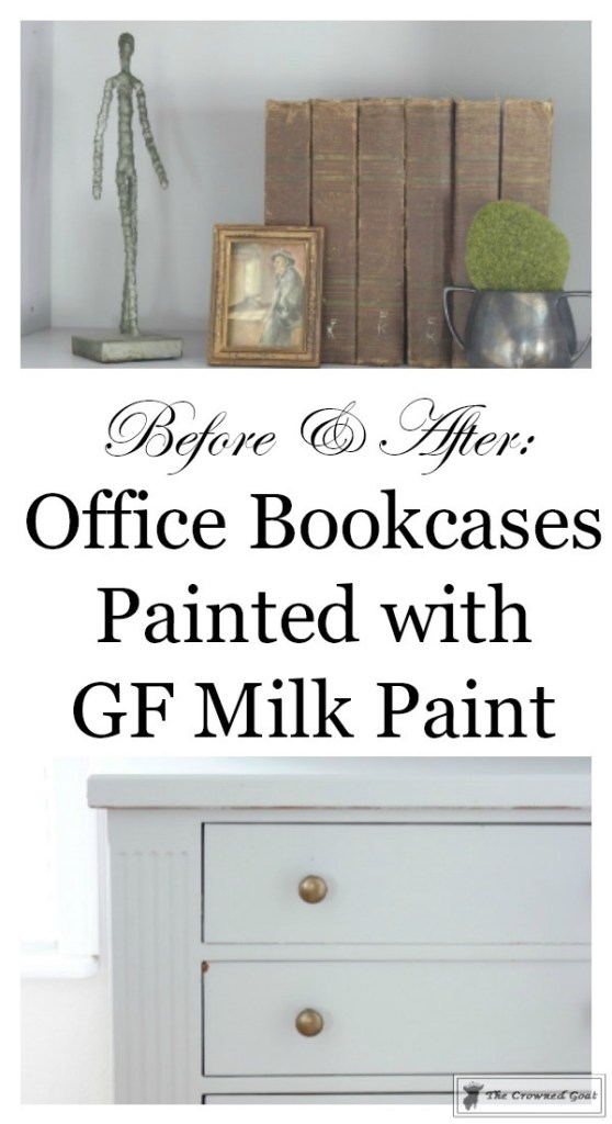 Painted Bookcases in GF Seagull Gray-The Crowned Goat-16