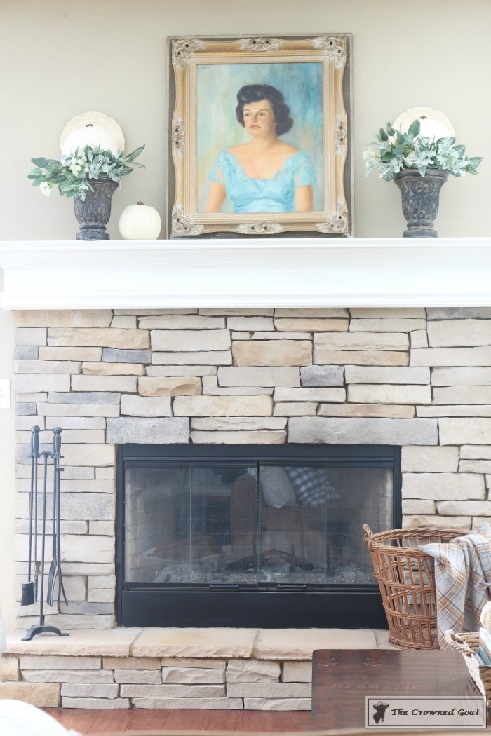 Easy-Fall-Mantel-Ideas-The-Crowned-Goat-3 5 Steps to Creating an Easy Fall Mantel Fall