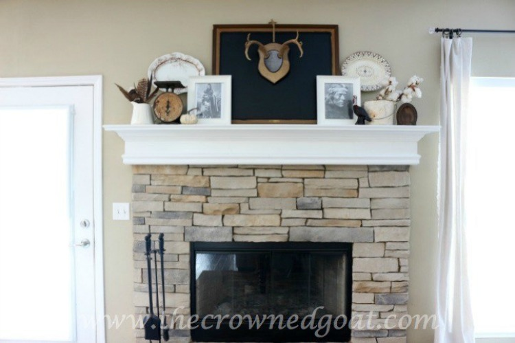 Easy-Fall-Mantel-Ideas-The-Crowned-Goat-5-1 5 Steps to Creating an Easy Fall Mantel Fall
