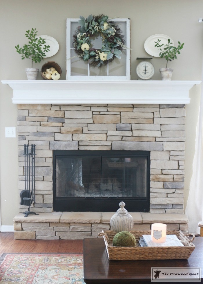 Easy-Fall-Mantel-Ideas-The-Crowned-Goat-7 5 Steps to Creating an Easy Fall Mantel Fall