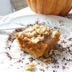 Salted Caramel Pumpkin Pie Gooey Bars