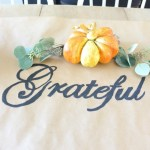 DIY Grateful & Blessed Table Runner