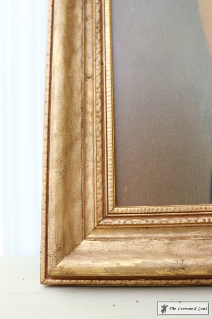 How-to-Antique-a-Gold-Frame-The-Crowned-Goat-9 How to Antique a Gold Picture Frame DIY