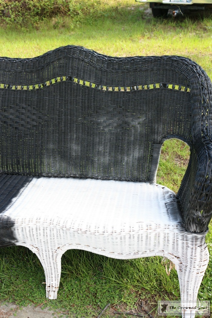 How-to-Spray-Paint-Wicker-Furniture-The-Crowned-Goat-8 How to Spray Paint Wicker Furniture DIY Painted Furniture