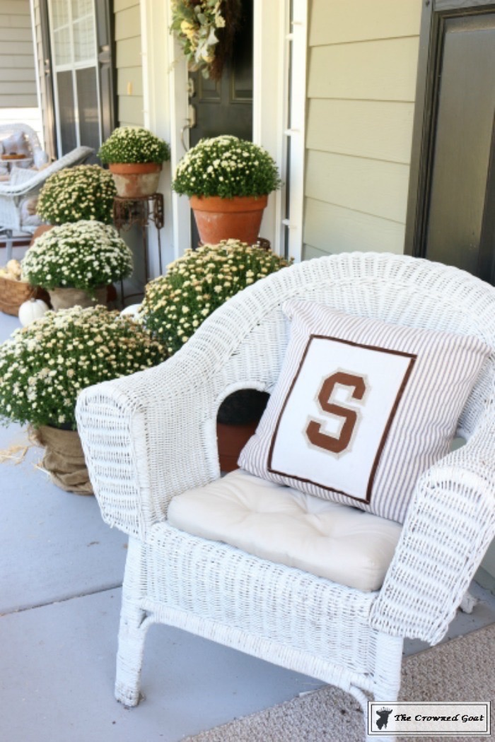 No-Sew-Varsity-Letter-Pillow-4 From the Front Porch From the Front Porch