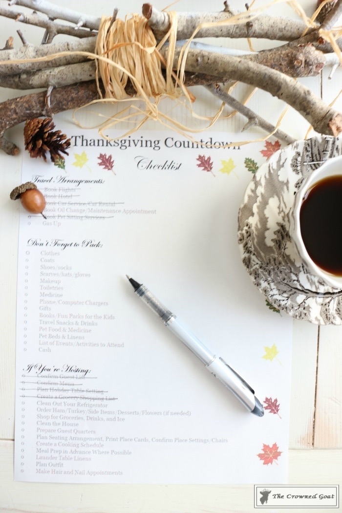 Thanksgiving-Countdown-Planning-Guide-The-Crowned-Goat-4 Easy Thanksgiving Planning Guide and a Free Printable Fall Organization
