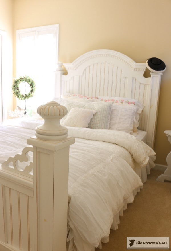Vintage-White-Bedroom-Makeover-The-Crowned-Goat-1 Vintage White Bedroom Makeover at Bliss Barracks Decorating