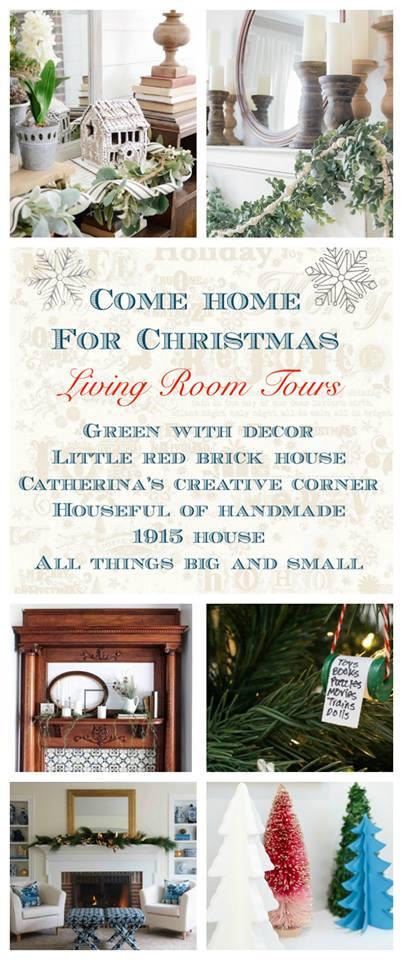 Come-Home-for-Christmas-Living-Room-Tuesday Mad for Plaid Christmas Entry Christmas