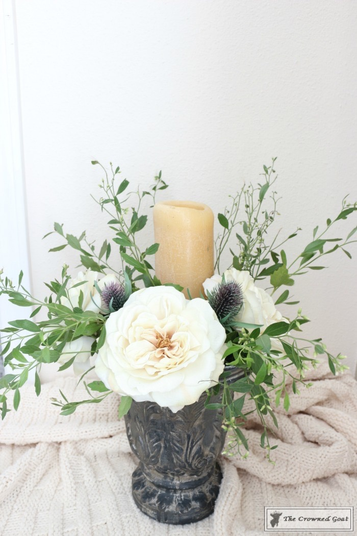 create-a-simple-flower-arrangement-the-crowned-goat-14 How to Create a Simple Flower Arrangement Back to Basic Decorating DIY
