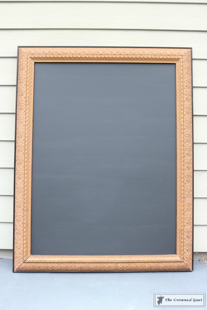 how-to-repurpose-a-picture-into-a-chalkboard-the-crowned-goat-6 How to Repurpose a Picture into a Chalkboard DIY