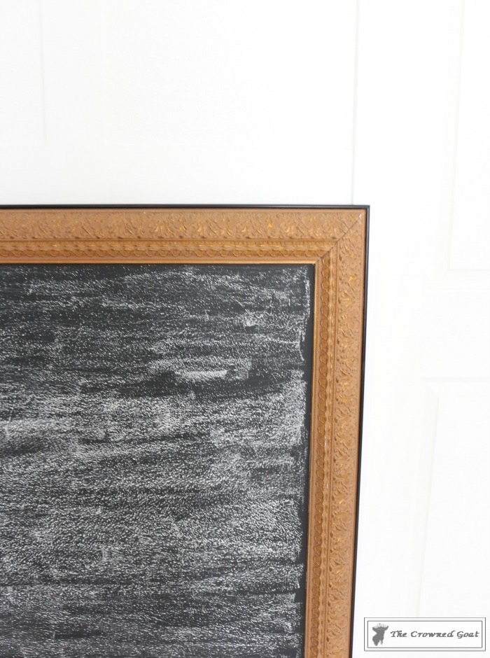 how-to-repurpose-a-picture-into-a-chalkboard-the-crowned-goat-8 How to Repurpose a Picture into a Chalkboard DIY