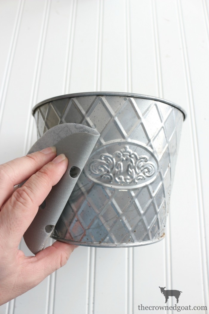 Metal-Planter-Makeover-The-Crowned-Goat-3 Annie Sloan Chalk Paint Thrifted Planter Makeover Organization Painted Furniture