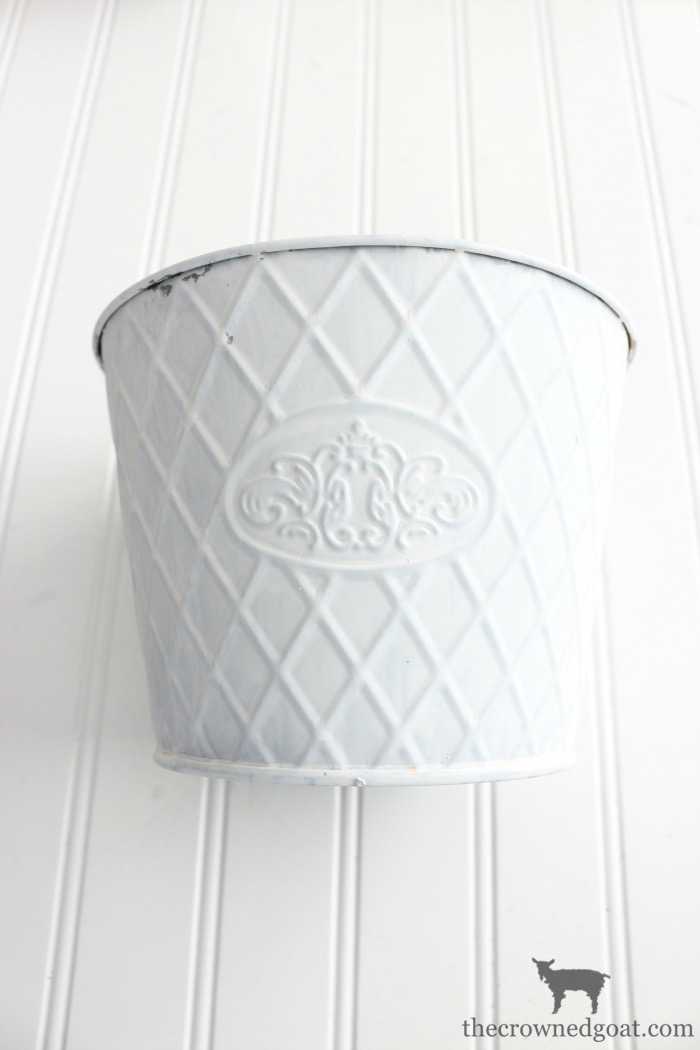 Metal-Planter-Makeover-The-Crowned-Goat-5 Annie Sloan Chalk Paint Thrifted Planter Makeover Organization Painted Furniture
