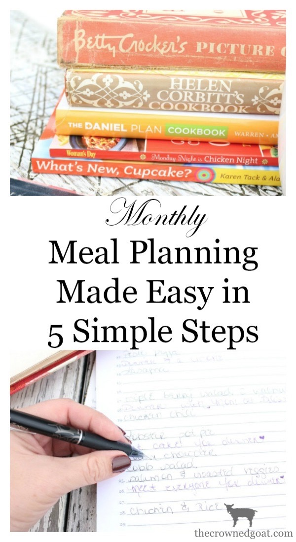 Monthly-Meal-Planning-Made-Easy-The-Crowned-Goat-4 How to Meal Plan by the Month Organization