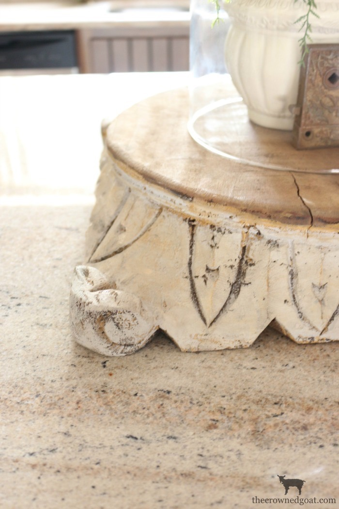 "DIY-Antique-Wooden-Pedestal-The-Crowned-Goat-15 ""Antique"" Wood Pedestal Makeover DIY"