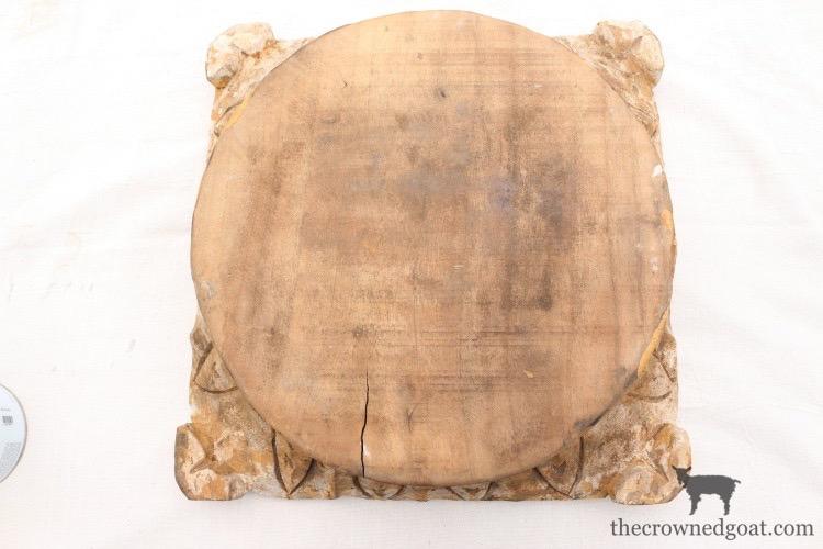 """DIY-Antique-Wooden-Pedestal-The-Crowned-Goat-6-Copy """"Antique"""" Wood Pedestal Makeover DIY"""
