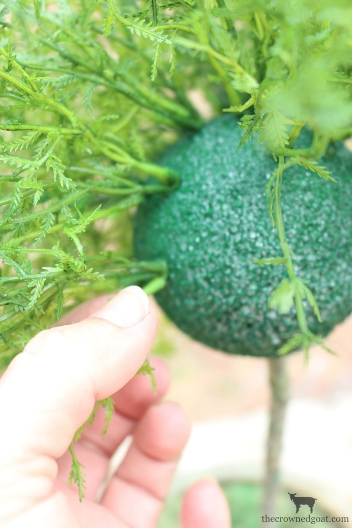 How-to-Create-a-Faux-Herb-Topiary-The-Crowned-Goat-8 How to Make a Simple Herb Topiary DIY