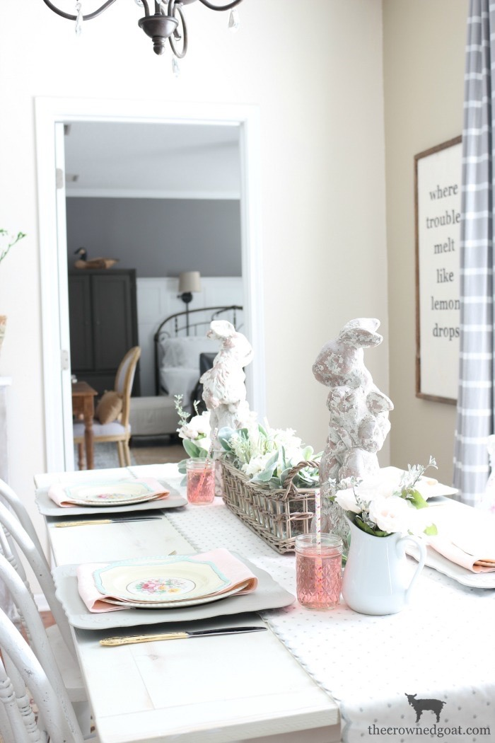 Breakfast-Nook-Spring-Tablescape-Ideas-The-Crowned-Goat-10 Spring Tablescape in the Breakfast Nook Spring