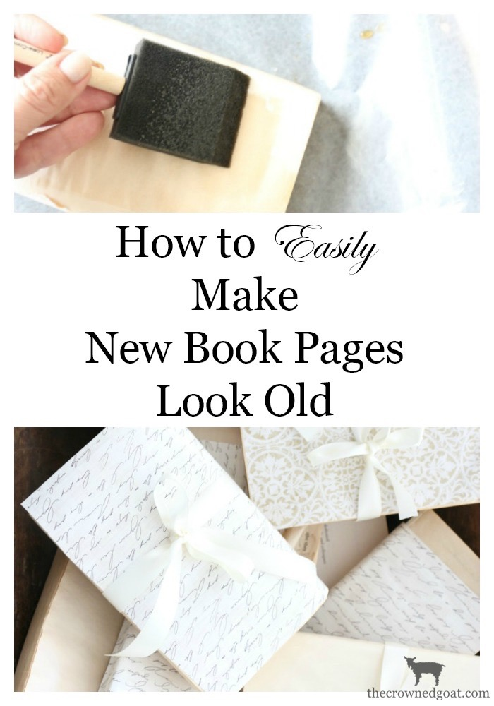 How-to-Make-New-Book-Pages-Look-Old-The-Crowned-Goat-20 How to Make Book Pages Look Aged Decorating DIY