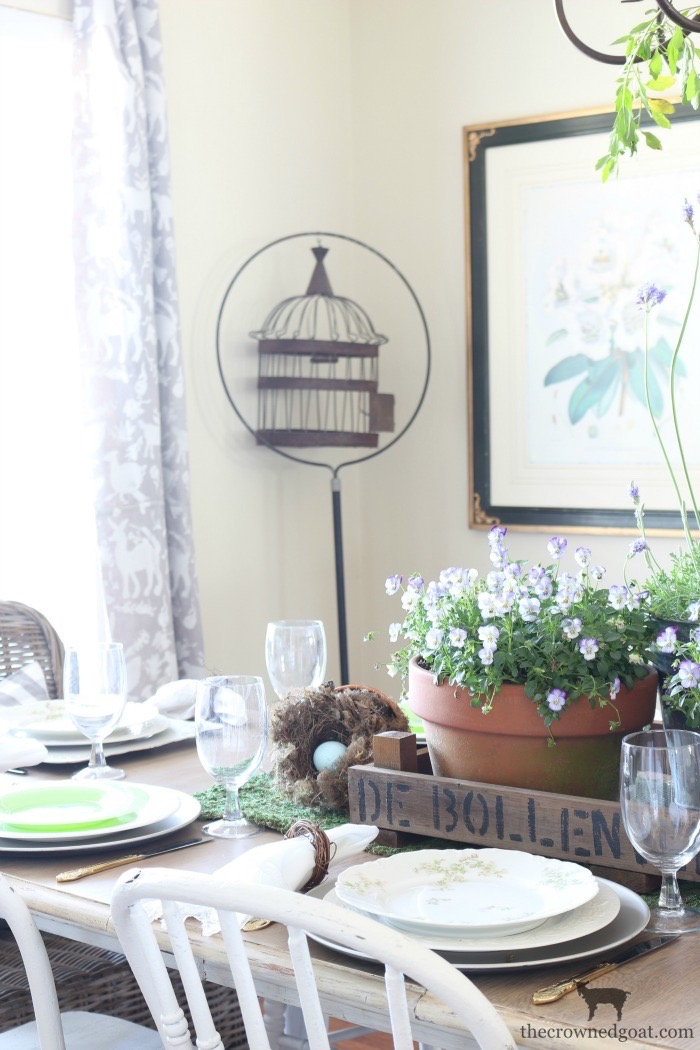 Our Spring Dining Room: Spring Inspired Dining Room Tablescape