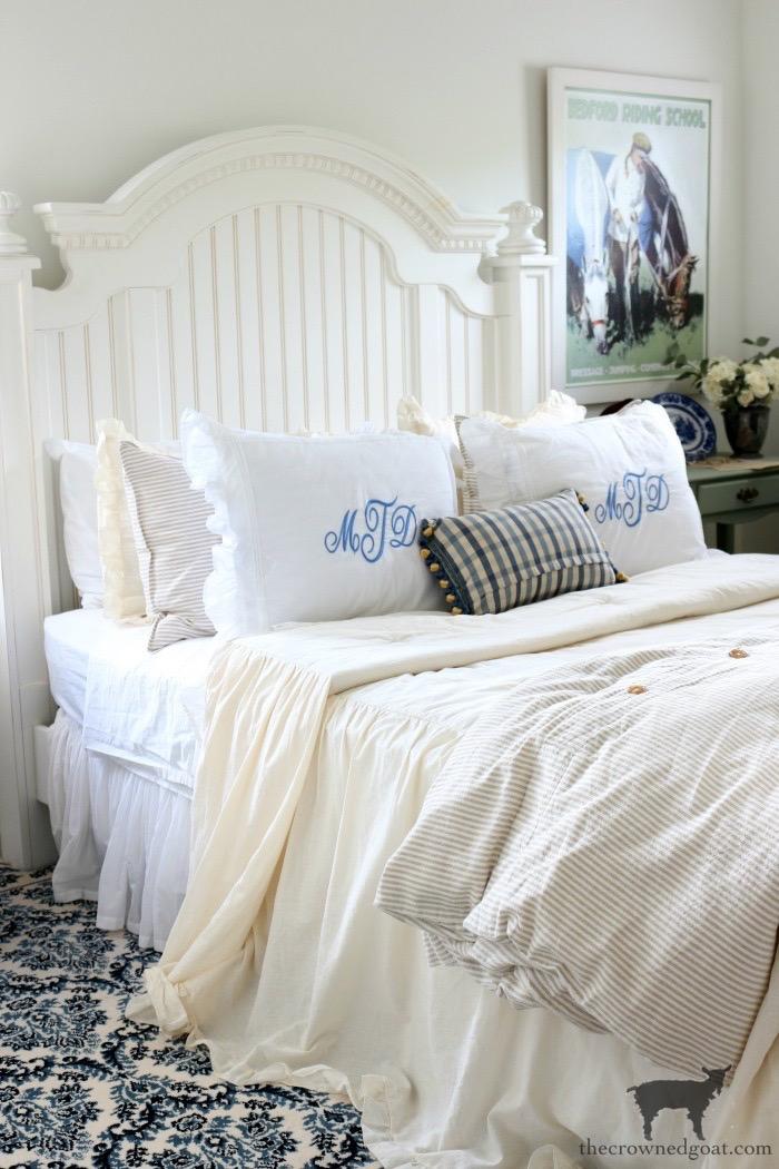 Blue-White-Guest-Bedroom-Refresh-BM-White-Dove Spring Cleaning & Organizing Task List Organization