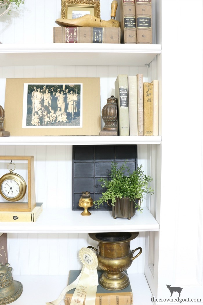 Custom-Built-Bookcase-The-Crowned-Goat-12 DIY Custom Bookcases from Columns Loblolly_Manor