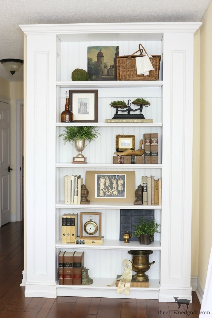 Custom-Built-Bookcase-The-Crowned-Goat-14 DIY Custom Bookcases from Columns Loblolly_Manor