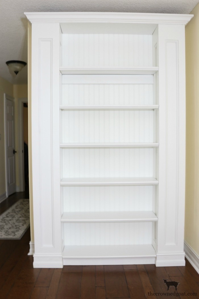 Custom-Built-Bookcase-The-Crowned-Goat-7 DIY Custom Bookcases from Columns Loblolly_Manor