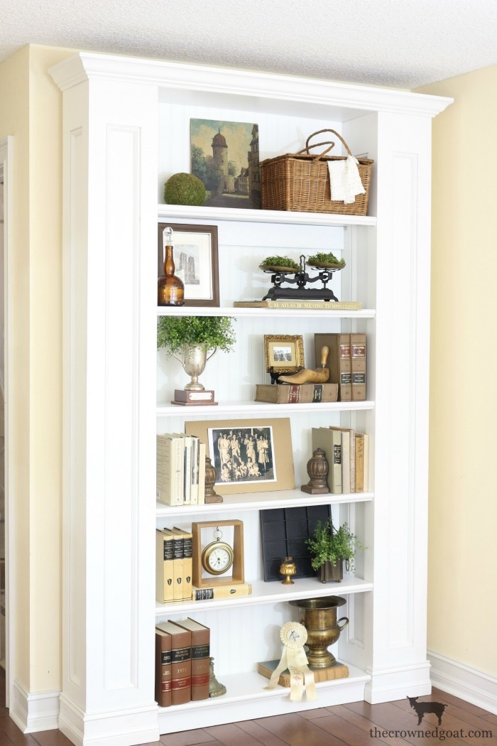Custom-Built-Bookcase-The-Crowned-Goat-8 DIY Custom Bookcases from Columns Loblolly_Manor