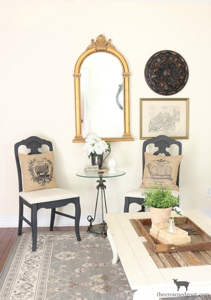 Milk-Paint-to-Chalk-Paint-Makeover-The-Crowned-Goat-13 Milk Paint to Chalk Paint Chair Makeover Painted Furniture